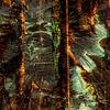 Landschaft, Spachteltechnik, Acrylmalerei, Abstrakt