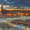 Djamaa el fna, Marktplatz, Marrakesch, Malerei