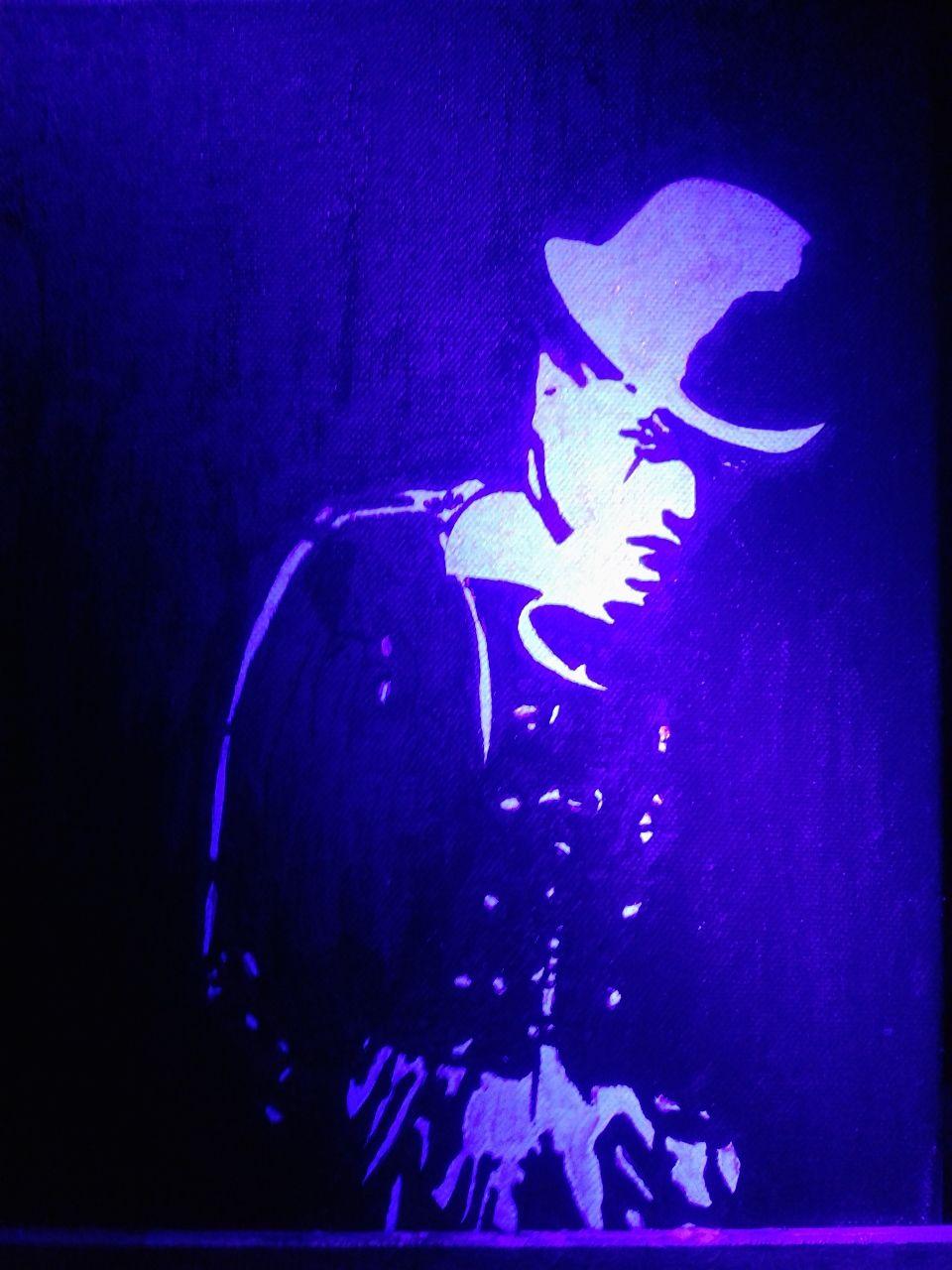 bild clown schwarzlicht licht leuchtbilder von mycrazypictures bei kunstnet. Black Bedroom Furniture Sets. Home Design Ideas