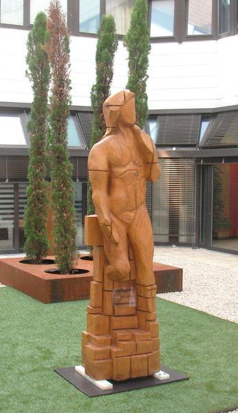 Holzskulptur, Menschen, Kettensäge, Skulptur, Schnitzkunst, Kunsthandwerk