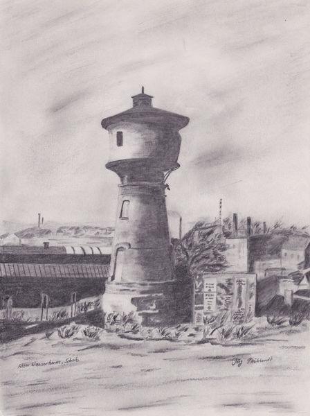 Schwarz weiß, Wasserturm, Alter wasserturm, Geschichte, Neunkirchen scheib, Jörg pleickhardt
