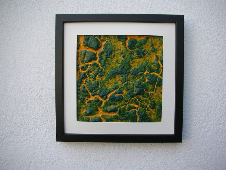 dscn2422 gelb acrylmalerei gr n schwarz von g nter klemusch on kunstnet. Black Bedroom Furniture Sets. Home Design Ideas