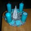 Kerzen, Baum, Plastik, Türkis