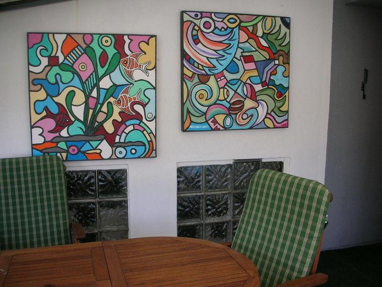 Mischtechnik, Farben, Acrylmalerei