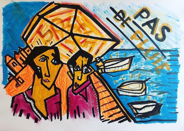 Menschen, Promenade, Malerei