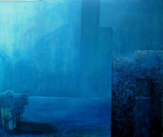 Blau, Mystik, Acrylmalerei, Malerei