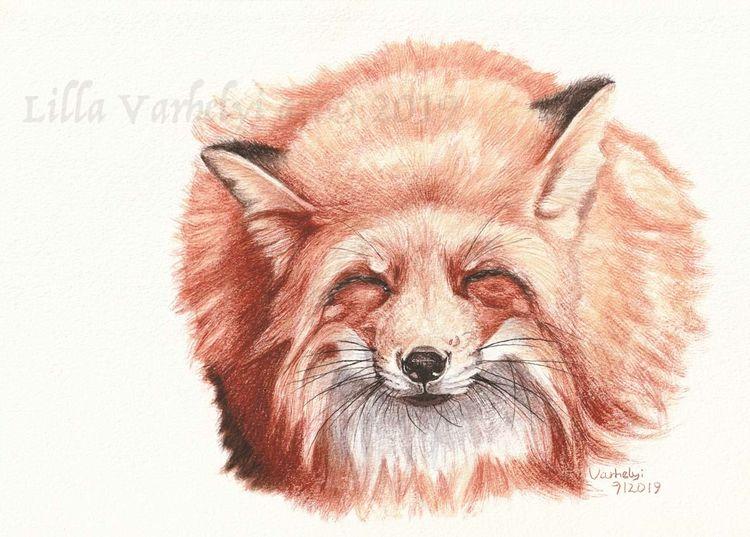 Wildtier, Animalpainting, Fuchs, Tierwelt, Originalartwork, Tuschmalerei