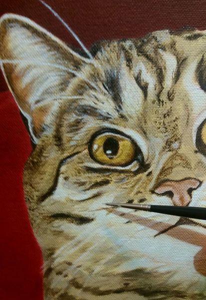 Wip, Malerei, Katze, Workinprogress, Commission, Ölmalerei