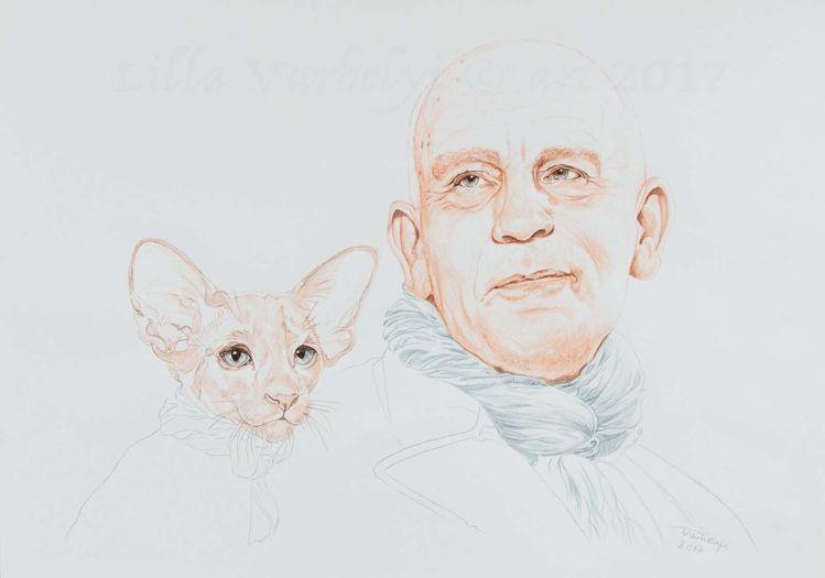 Zeichnung, Mann, Linie, Johnmalkovich, Reduktion, Monochrom