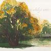 Landschaft, Tuschmalerei, Grün, Baum