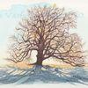 Landschaftsmalerei, Baum, Natur, T usche
