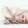 Tuschmalerei, Tierwelt, Affe, Wildtier