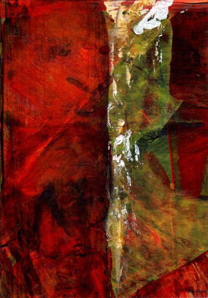 Rot, Struktur, Schicht, Mischtechnik, Malerei, Atem