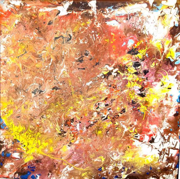 Acrylmalerei, Blau, Edel, Struktur, Skizze, Zeitgenössisch