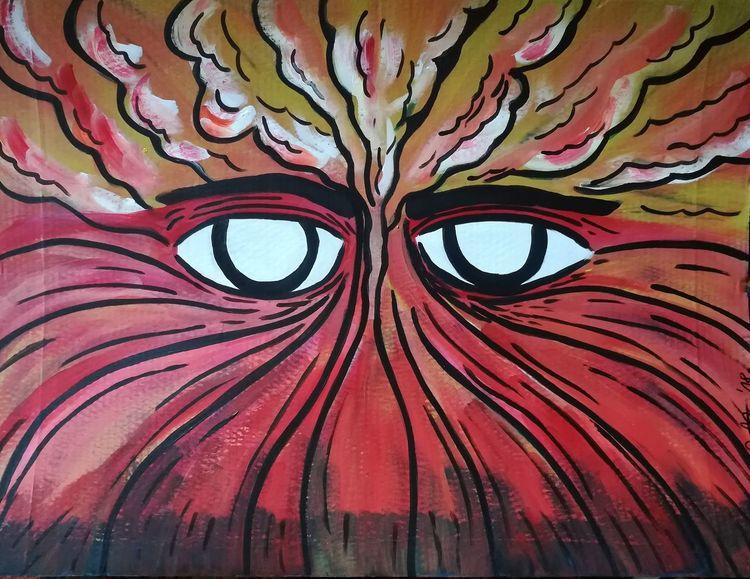 Rauchen, Blick, Rauch, Feuer, Energie, Augen