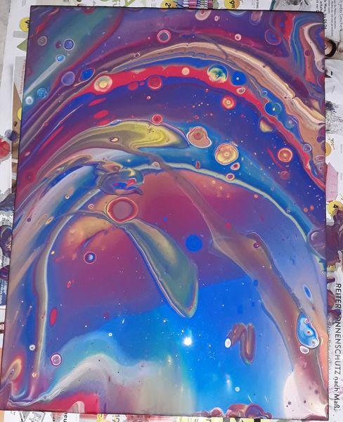 Abstrakt, Pouring, Bewegung, Leben, Muster, Malerei