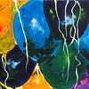 Bunt, Luftballon, Bänder, Malerei