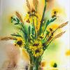 Blumen, Sonnenblumen, Vase, Sommer