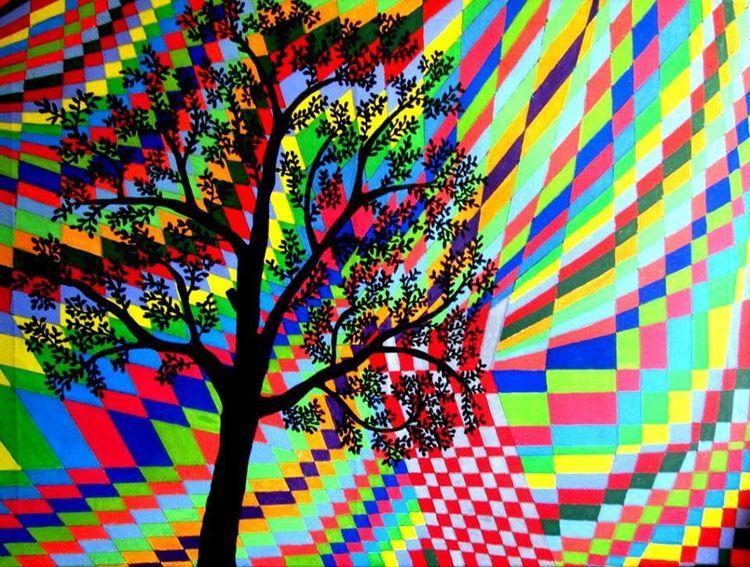 Esothermik, Baum, Schatten, Malerei