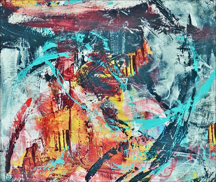 Abstrakt, Dynamik, Formen, Malerei, Malerei abstrakt,