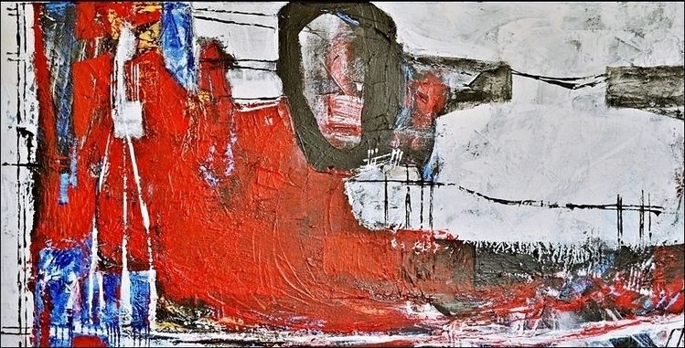 Schicht, Formen, Linie, Malerei, Malerei abstrakt