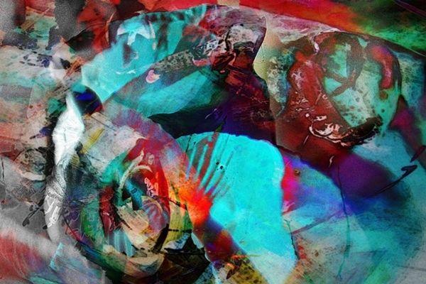 Licht, Tunnel, Digital, Abstrakt, Farbflächen, Formen