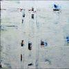 Weiß, Spachteltechnik, Malerei, Malerei abstrakt