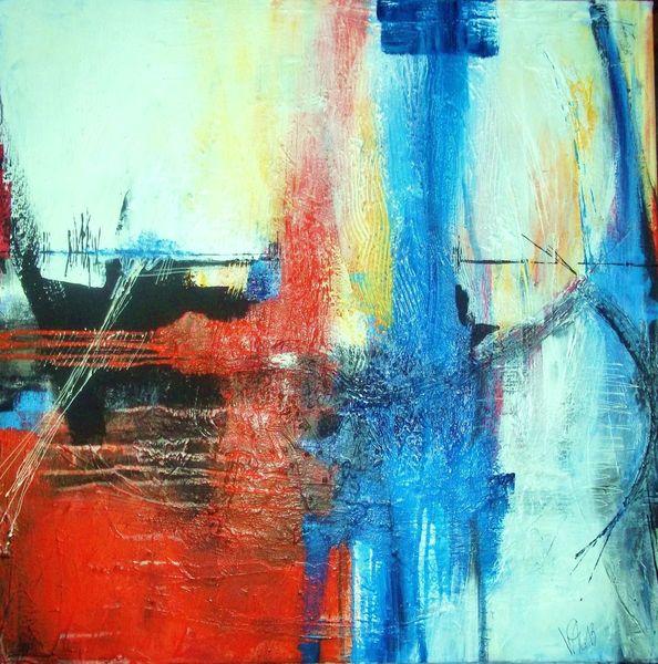 Blau, Struktur, Linie, Margit w, Spuren, Gelb