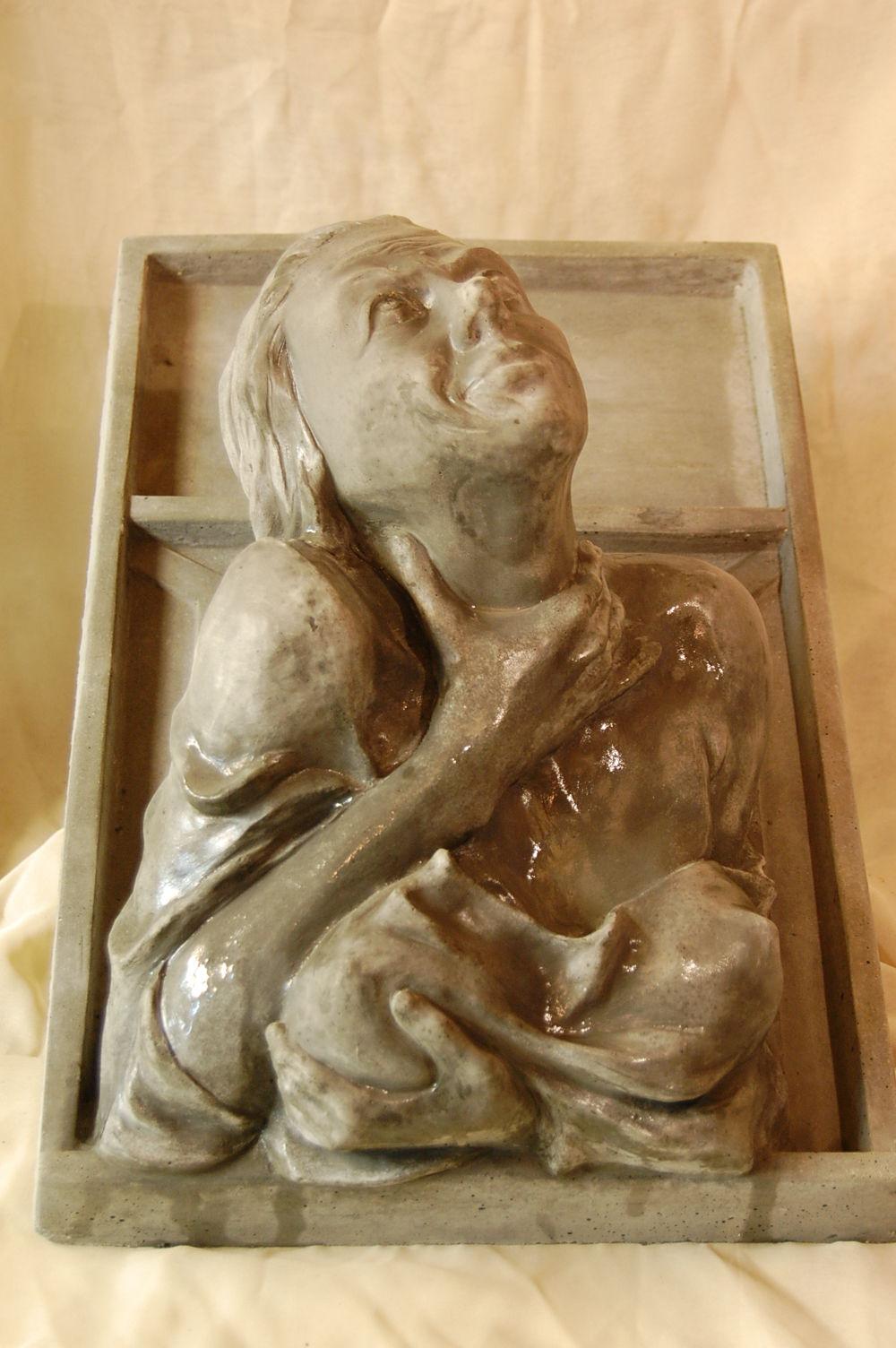 Gartenmobel Holz Chelsea : Bild Fenstergucker, Leben, Weib, Skulptur von dueweley bei KunstNet