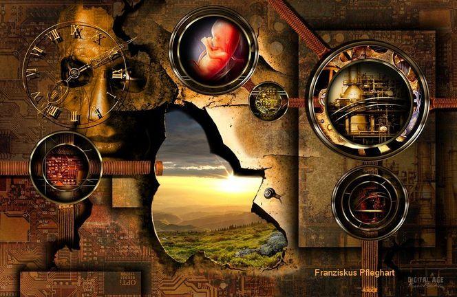 Surreal, Macht, Kopf, Tod, Technik, Zerstörung