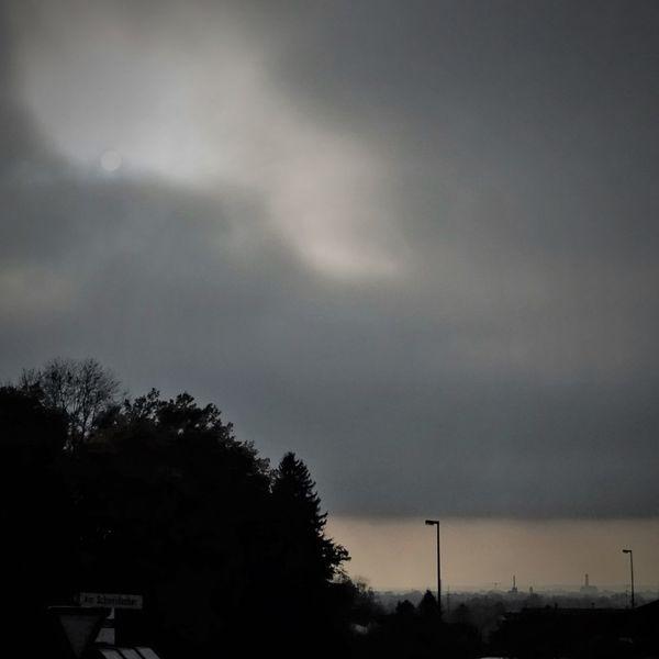 Nebel, Horizont, Sonne, Wald, Bedrohlich, Stadt