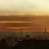 Sonnenuntergang, Wolken, Kirche, Augsburg