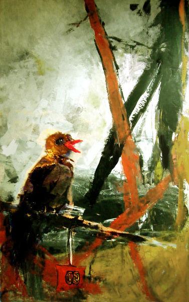 Hirnkastl, Acrylmalerei, Mischtechnik