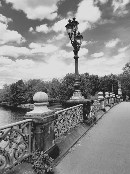 Nostalgie, Stadt, Brücke, Berlin, Perspektive, Monochrom