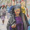 Menschen, Straßenszene, Frau, Brixton