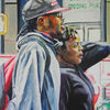 Menschen, Paar, Malerei