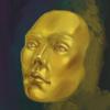 Gold, Gesicht, Kopf, Digitale kunst