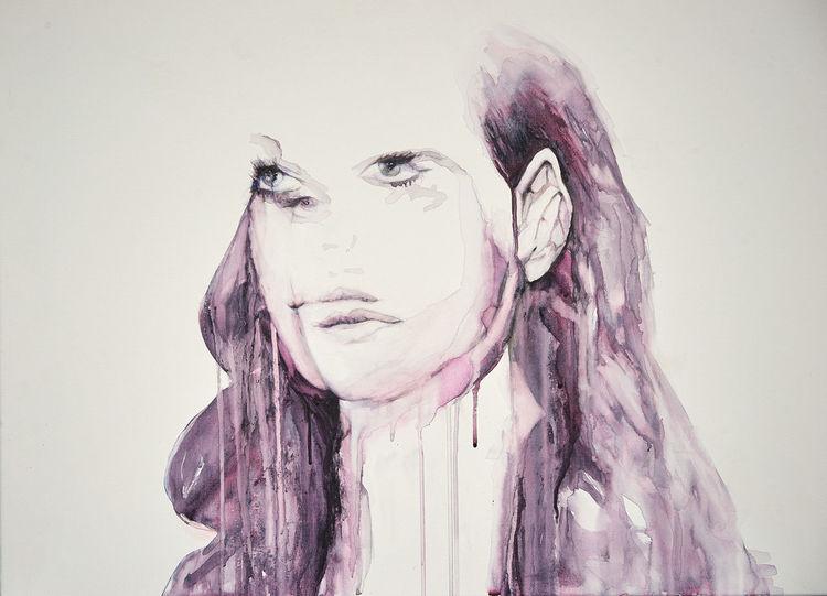 Essenz, Energie, Selbstportrait, Gefühl, Doppelbelichtung, Malerei