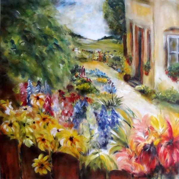 Bauerngarten, Malerei