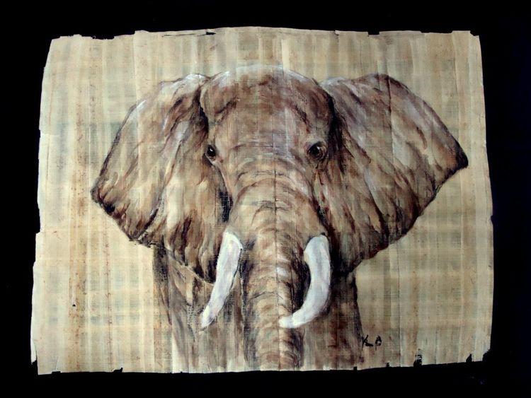 Elefant, Malerei