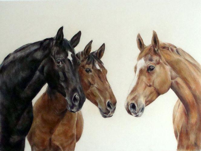 Pferdemalerei, Pferdeportrait, Malerei
