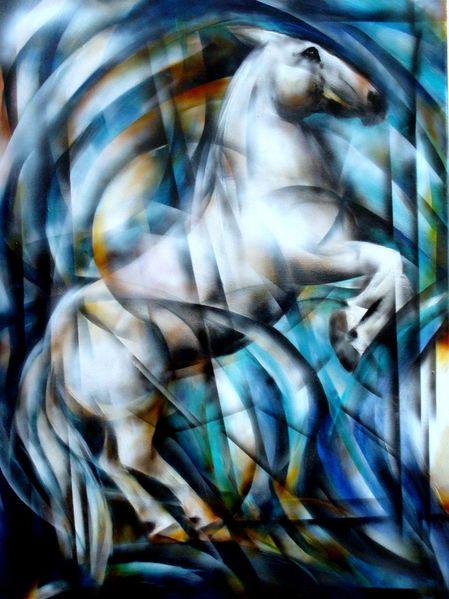 Pferdemalerei, Airbrush, Malerei,