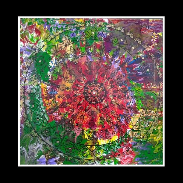 Farben, Mandala, Malerei,