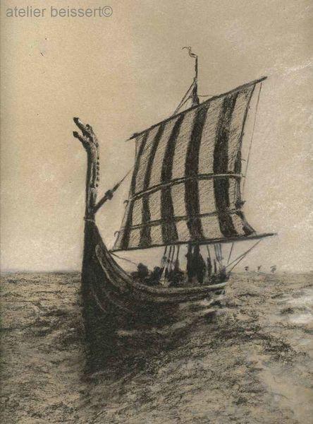 Drachenboot, See, Skandinavien, Meer, Saga, Däne