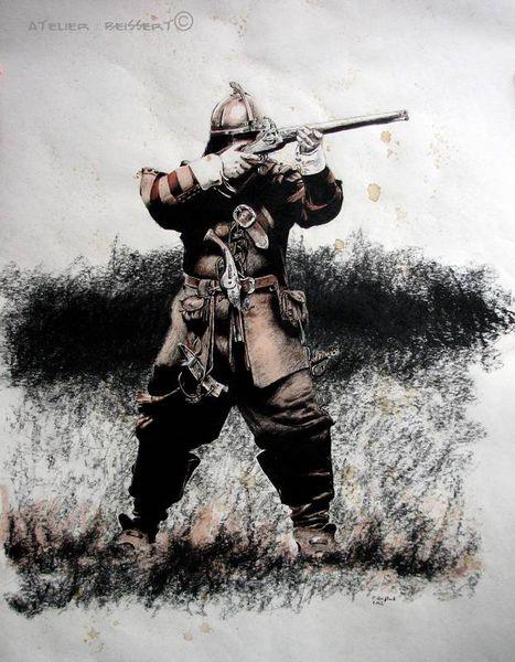 Musketiere, Reenactment, Steinschlossmusketen, Geschichte, Kanone, Schweden