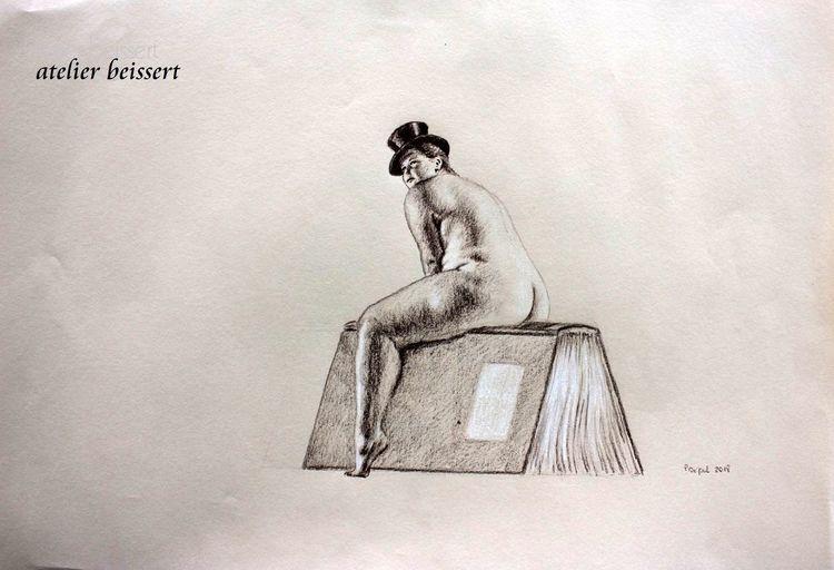 Frau, Sitzen, Mollig, Erotik, Bücher, Bein