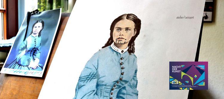 Oliveoatman, Portrait, Ausstellung, Nachtderkunst, Indianer, Arizona