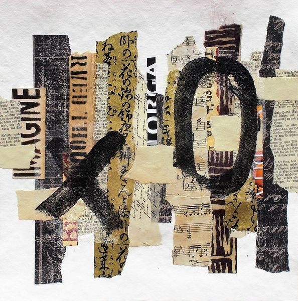 Paperwork, Ausdrucksmalerei, Abstrakte kunst, Collage, Expressionismus, Collage abstract