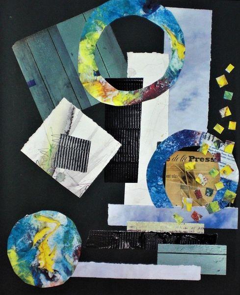 Quadrat, Intuitiv collage, Kreis, Malerei, Collage