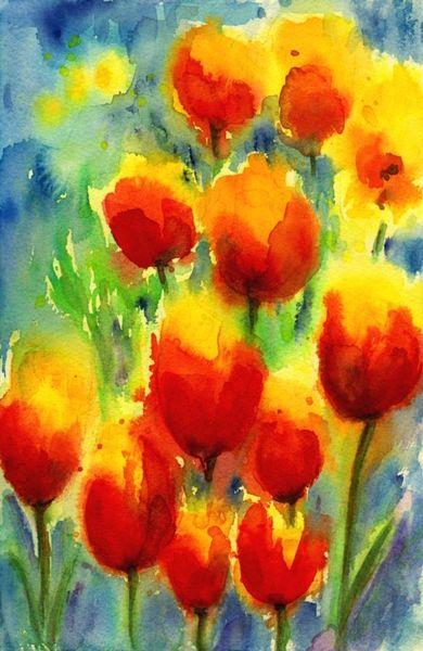 Blumen, Aquarellmalerei, Aquarell